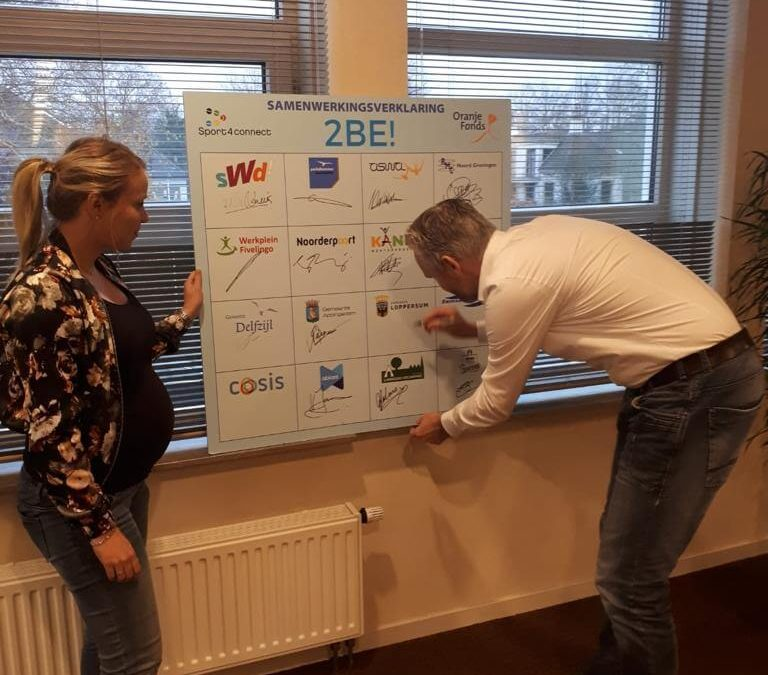 Ondertekening samenwerkingsverklaring door gemeente Loppersum
